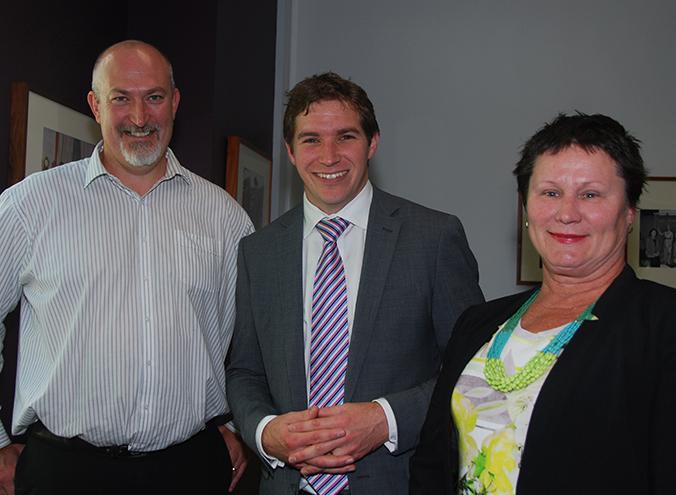 Adam Leayr, Alistair Coe and Nicole Lawder