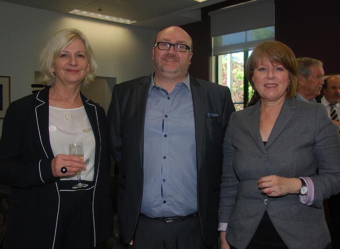 Annabelle Pegrum, Shaun Rohrlach and Louise Doyle