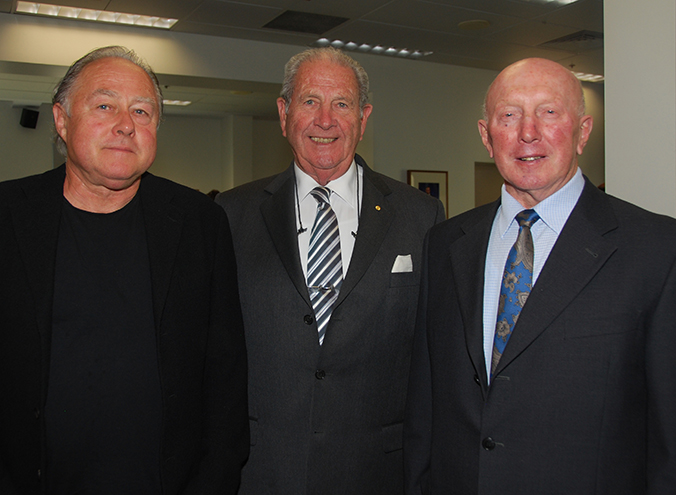 Imants Tillers, Chairman of the IPA Board Lt Gen Laurie O'Donnell (Retd) and Gianni De Bortoli